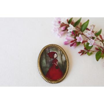 Rapunzel- vintage frame pin